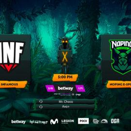 Infamous Gaming vs NoPing Esports: Duelo por estar más cerca de un cupo a la Major