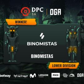 Binomistas es el segundo equipo ascendido de esta OGA DPC SA Season 2 tras derrotar a Incubus Gaming