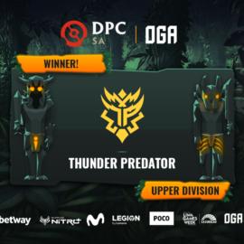 Thunder Predator gana su serie ante Hokori y sigue en el camino de un posible cupo a la 2da Major