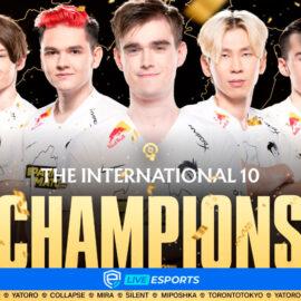Team Spirit es el campeón del The International 10 tras derrotar al PSG.LGD en la Gran Final
