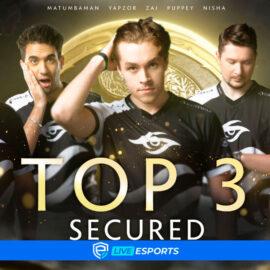 Team Secret rompe una racha de derrotas frente a Invictus Gaming y pasa al Top 3 del The International 10