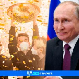 Vladímir Putin, el presidente de Rusia, felicitó a Team Spirit por ganar el The International 10
